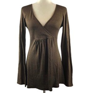 Michael Stars Metallic Surplice Tunic Top